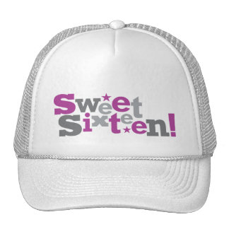 Fluctuating Type Sweet 16 Hat