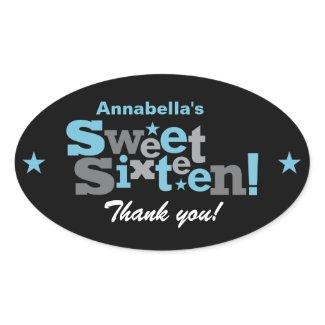Fluctuating Type Sweet 16 Sticker sticker
