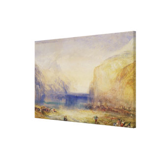 Fluelen: Morning (looking towards the lake) 1845 ( Stretched Canvas Prints