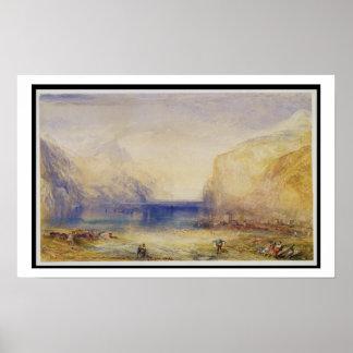 Fluelen: Morning (looking towards the lake) 1845 ( Poster