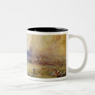 Fluelen: Morning (looking towards the lake) 1845 ( Two-Tone Coffee Mug