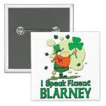 Fluent Barney Leprechaun Pinback Button