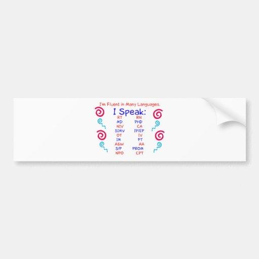 Fluent in Abbreviations Bumper Stickers
