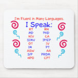 Fluent in Abbreviations Mousepads