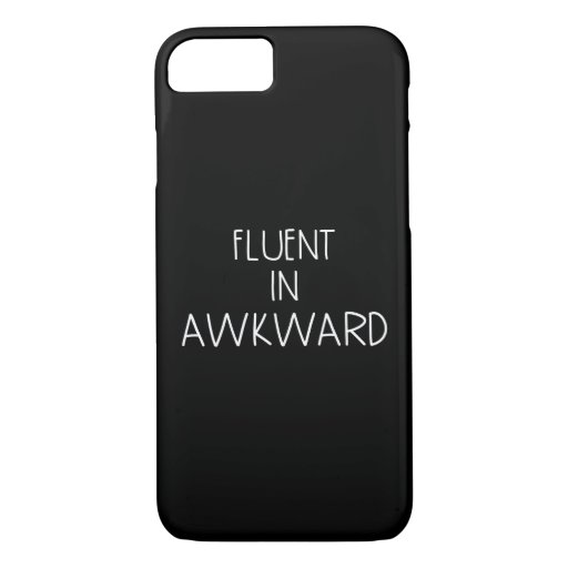 Fluent In Awkward Funny Introvert iPhone 8/7 Case