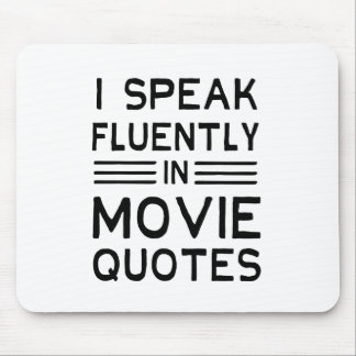 Fluent in Quotes Mouse Pad