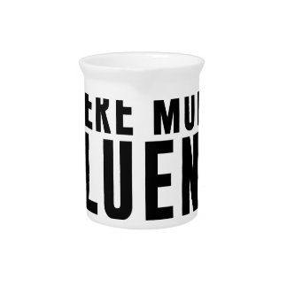 Fluent In Silence Drink Pitcher