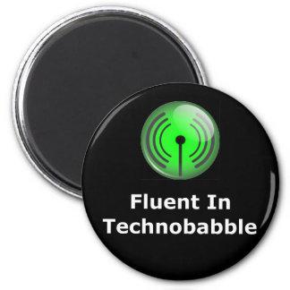 Fluent In Technobabble 2 Inch Round Magnet