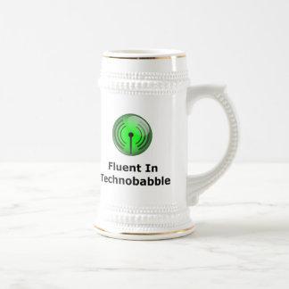 Fluent In Technobabble Beer Stein