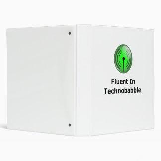 Fluent In Technobabble 3 Ring Binders