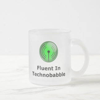 Fluent In Technobabble Frosted Glass Coffee Mug