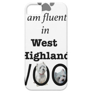 Fluent in West Highland Woof iPhone SE/5/5s Case