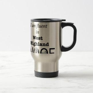 Fluent in West Highland Woof Travel Mug