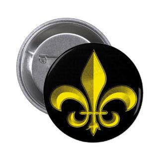 Fluer De Art Bevel Gold Fresco 2 Inch Round Button