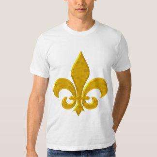 Fluer De Lis Hammered Gold Tee Shirt