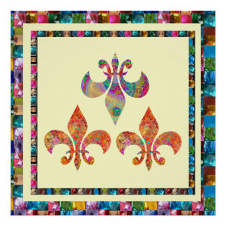 Fluer-de-Lis: Happy Patterns by Navin Print