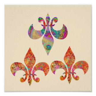 Fluer-de-Lis: Happy Patterns by Navin Posters
