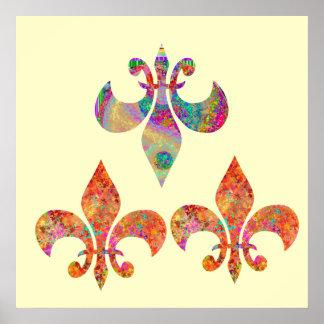 Fluer-de-Lis: Happy Patterns by Navin Poster