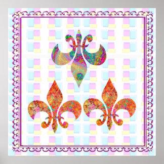Fluer-de-Lis: Happy Patterns Poster