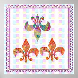 Fluer-de-Lis: Happy Patterns Print