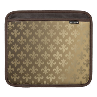 Fluer Des Lis Classic Gold iPad Sleeve