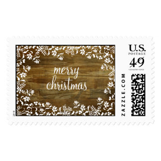 Fluer Merry Christmas on Reclaimed Wood - Postage