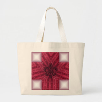 Fluer Red Cross Large Tote Bag