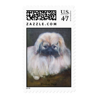 """Fluff Ball"" Postage Stamp"