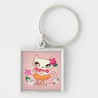 Fluff Hula Kitty Keychain