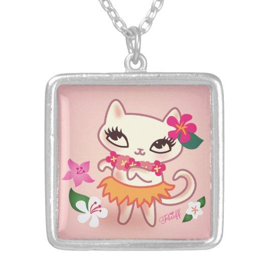 Fluff Hula Kitty Necklace
