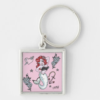 Fluff Molly Mermaid Keychain- pink Keychain