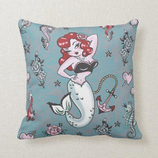 fluff molly mermaid pillow zazzle. Black Bedroom Furniture Sets. Home Design Ideas