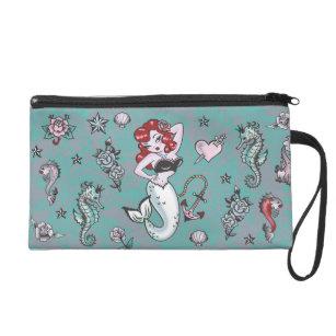 1e7dd86e5eba Fluff Molly Mermaid Wristlet Bag