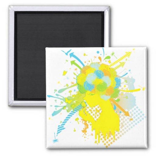 Fluff_of_a_Dandelion 2 Inch Square Magnet