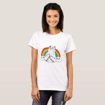 Fluff Off Rainbow Cat T-Shirt