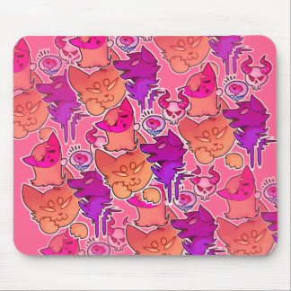 fluff print mouse pad