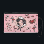 """Fluff Suzy Sailor Bag<br><div class=""""desc"""">Suzy Sailor! A cute little sailor girl inspired by vintage tattoos and retro pinup girls with a nautical theme. Original artwork by Claudette Barjoud for Fluff!</div>"""