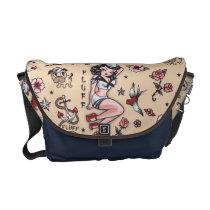 Fluff Suzy Sailor Pinup Messenger Bag