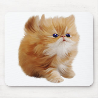 Fluff The Kitten Mouse Pad