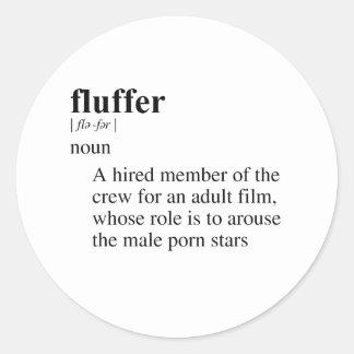 FLUFFER ROUND STICKERS