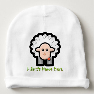 Fluffles The Lamb (Personalized) Baby Beanie