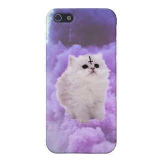 Fluffly wittle Satan kitty Case For iPhone SE/5/5s