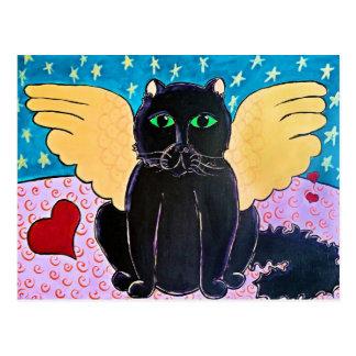 Fluffy Angel Cat Postcard
