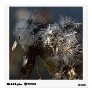 fluffy autumn seeds macro wall sticker