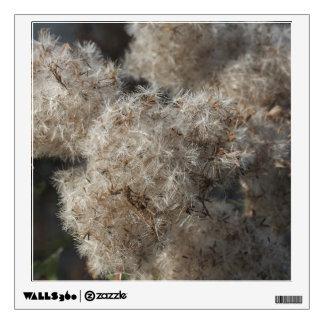 fluffy autumn seeds wall sticker
