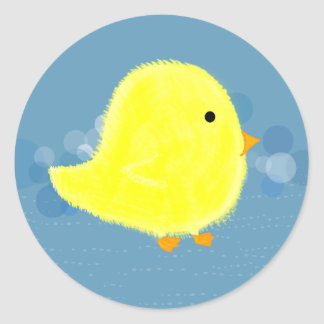 Fluffy Baby Chick Stickers