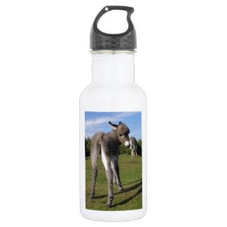 Fluffy Baby Donkey With Mama Stainless Steel Water Bottle