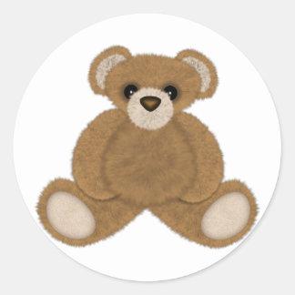 Fluffy Bear Classic Round Sticker