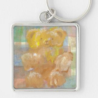 Fluffy Bear Teddy Bear CricketDiane Art Keychain