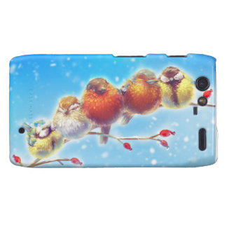 Fluffy Birds of Winter Droid RAZR Cover